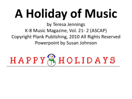 A Holiday of Music - Bulletin Boards for the Music Classroom