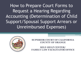How to Prepare Court Forms to Request a Hearing Regarding