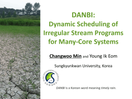 Dynamic Scheduling of Irregular Stream Programs for Many