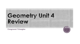Geometry Unit 4 Review