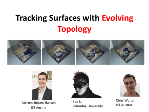 Tracking Surfaces with Evolving Topology