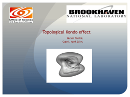 Topological Kondo effect