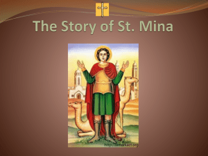 The Story of St. Mina