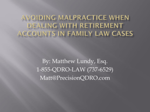 Avoiding Malpractice when Dealing with