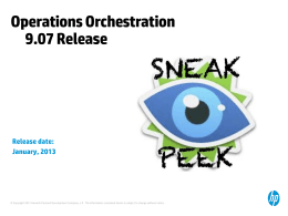 OO Operations Orchestration 9.x & CPE