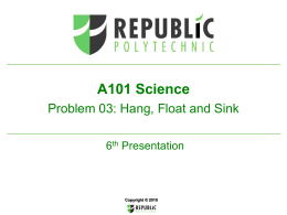 A101 6P P03 Hang Float and Sink