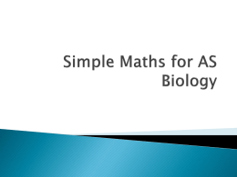 Maths for AS Biology File