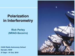 Polarization in Interferometry