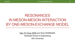 Meson-exchanged models