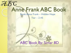 Anne Frank abc book