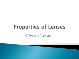 Properties of Lenses