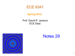 6341 notes 29 High Frequency Scattering by Cylinder