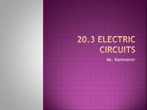 20.3 Electric Circuits