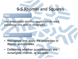 6-5 Rhombi and Squares