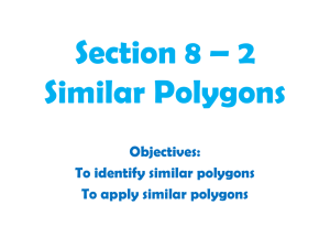Section 8 * 2 Similar Polygons