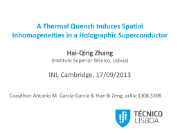 A Thermal Quench Induces Spatial Inhomogeneities in a