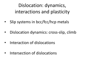 Dislocation: dynamics, interactions and plasticity