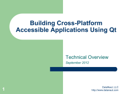 Building cross-platform accessible applications using Qt