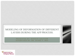 Modelling of deformation of different layers during the AFP