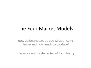 The Four Market Models
