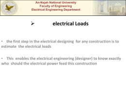 electrical Loads - An-Najah National University