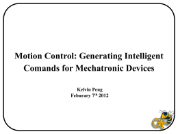 Mechatronics Motion Control_Feb. 7th