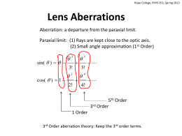 Feb 19: 3rd Order Aberrations Lecture Notes