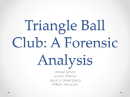 Triangle Ball Club: A Forensic Analysis
