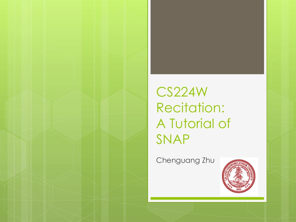SNAP C++ slides