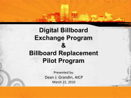 Digital Billboard Council Presentation-Ord.1st Read-3-22