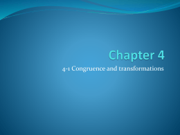 4-1 congruence and transformations