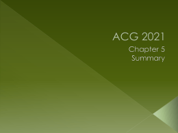 ACG 2021 - FinancialAccounting