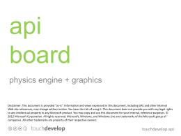 api board - TouchDevelop
