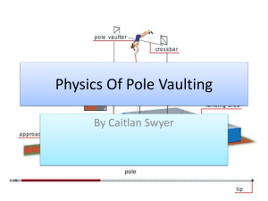 Physics of Pole Vaulting