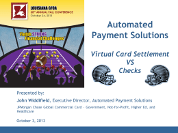 Automated Payment Solutions - Louisiana Government Finance