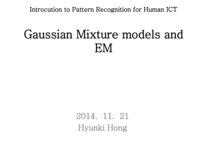 Gaussian Mixture models and EM