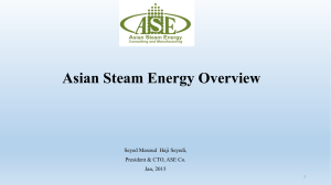 Why Oman? - Asian Steam Energy