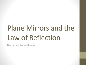 Plane Mirrors and the Law of Reflection