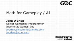 GDC 2005 - Essential Math for Games Programmers