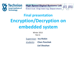 Final presentation Encryption/Decryption on embedded system