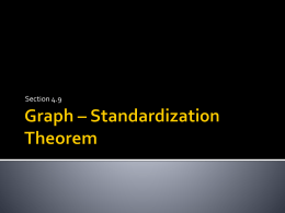 Fst 4.9 Graph – Standardization Theorem