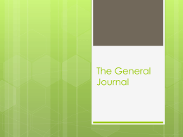 The General Journal