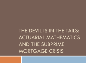 The devil is in the tails - Department of Mathematics | Illinois State