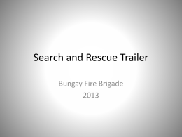 Search and Rescue trailer introduction