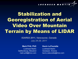 Stabilization and Georegistration of Aerial Video Over Mountain