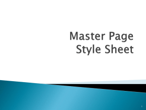 Master Page CSS
