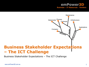 Business Stakeholder Expectations