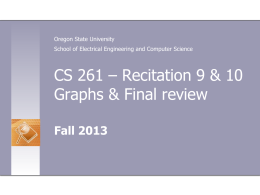 Recitation 10 - Classes - Oregon State University
