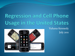 Regression and Cell Phone usage in the United States