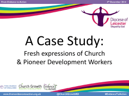 The Revd Barry Hill - Church Growth Research Programme